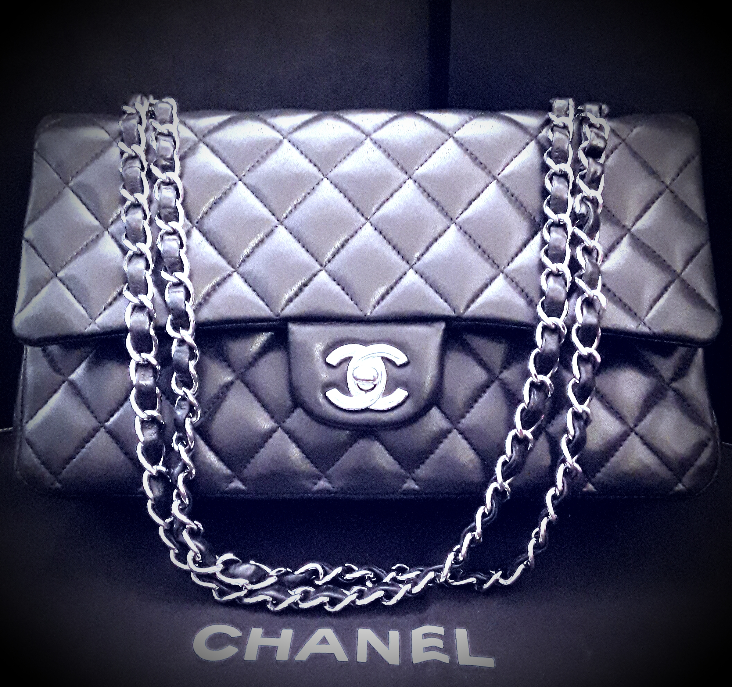 Sac CHANEL gris anthracite